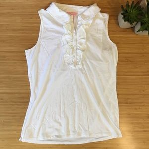 Lilly Pulitzer White Tank Top Size L